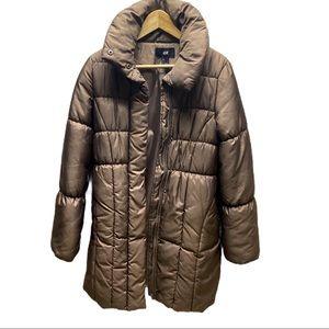 🌞Zara Brown Woman's Long Puffer Coat Size 4